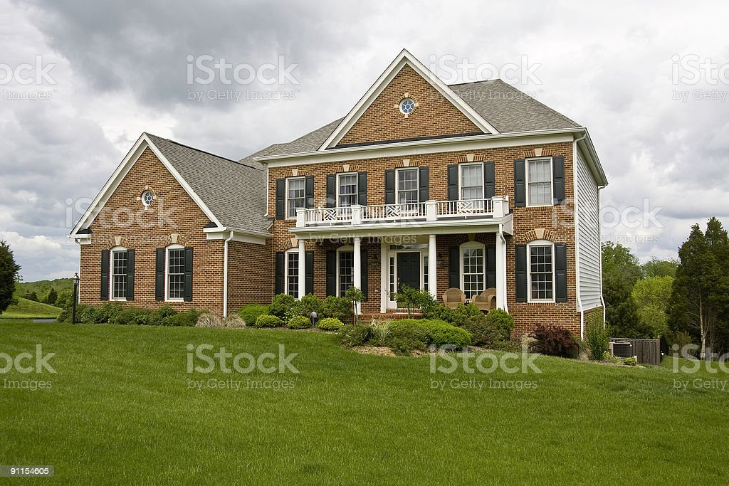 Modern House in Suburbs stock photo