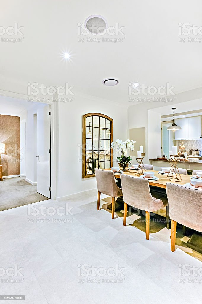 Modern House Inside At Night With Lights On Stock Photo Download Image Now Istock
