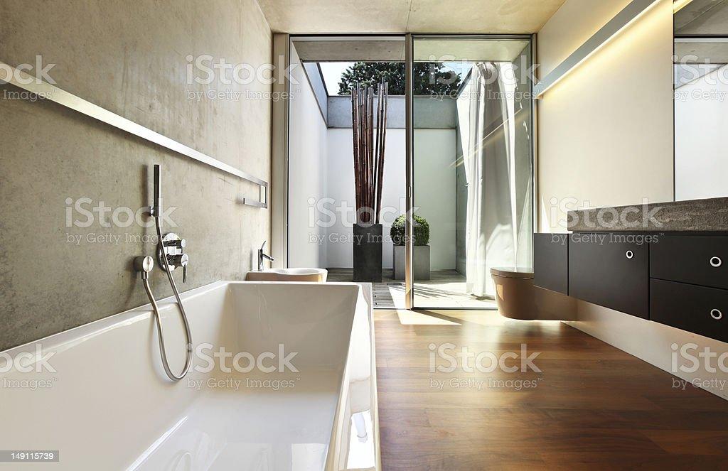 modern house interior, bathroom view royalty-free stock photo