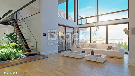 istock modern house interior design. 1142747548