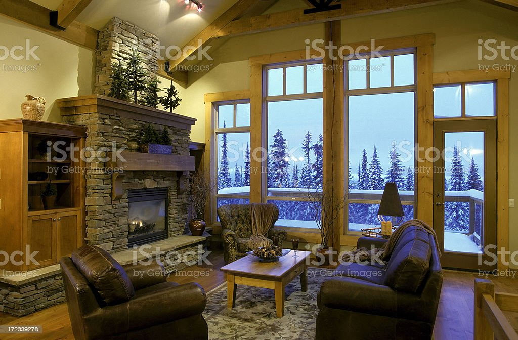 modern house living room interior stock photo