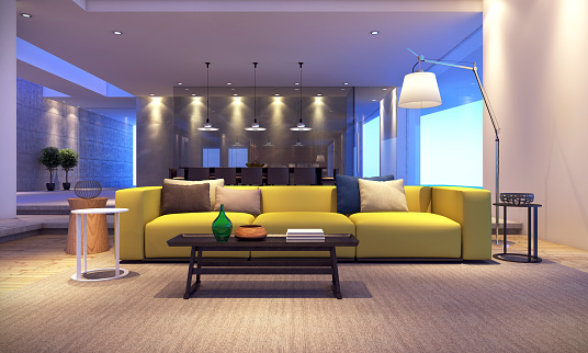 Modern House Living Room Stock Photo - Download Image Now