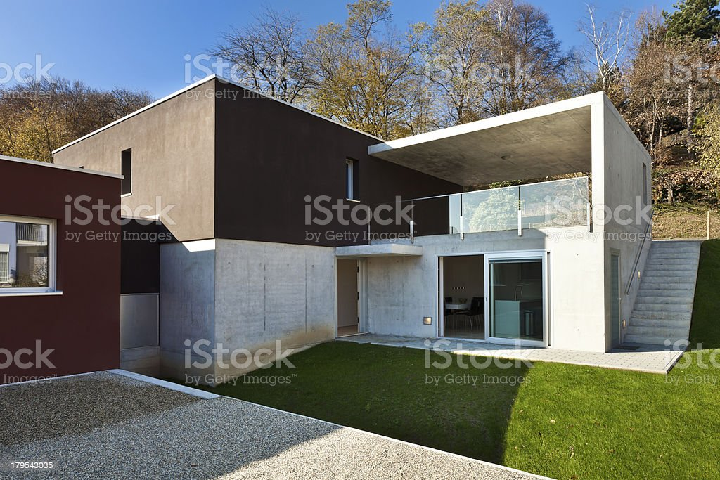 Modern house, outdoor royalty-free stock photo