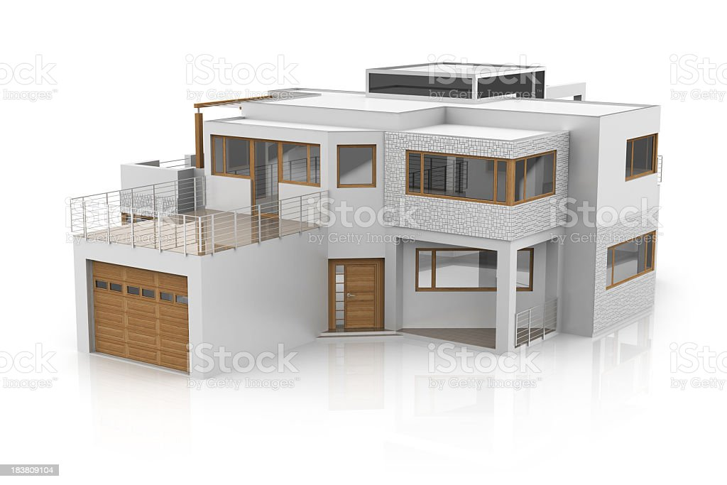 Modern House stock photo