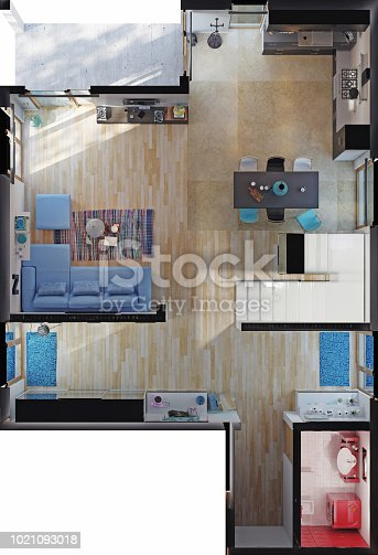 istock modern house rooms top view 1021093018