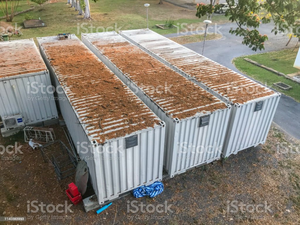 Modern House Shipping Container House At Thailand Stock Photo Download Image Now Istock