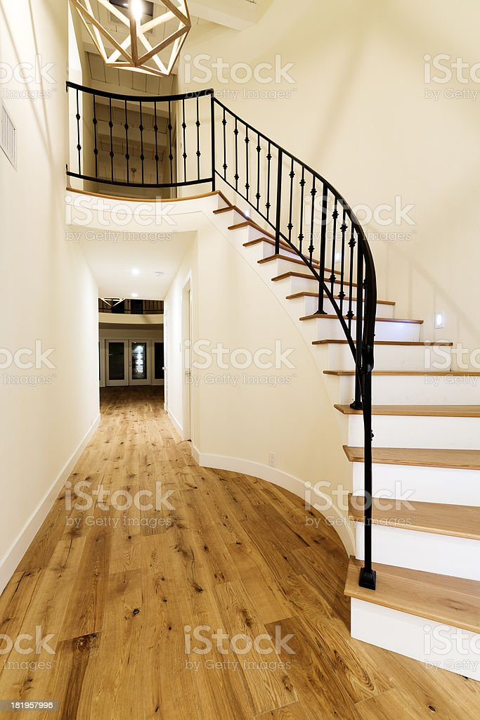 Modern House Staircase royalty-free stock photo