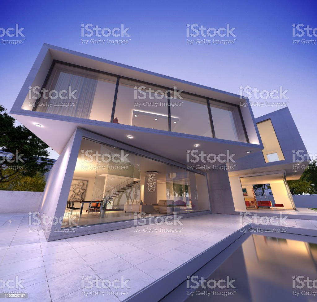 Photo libre de droit de Maison Moderne Blanche banque d ...