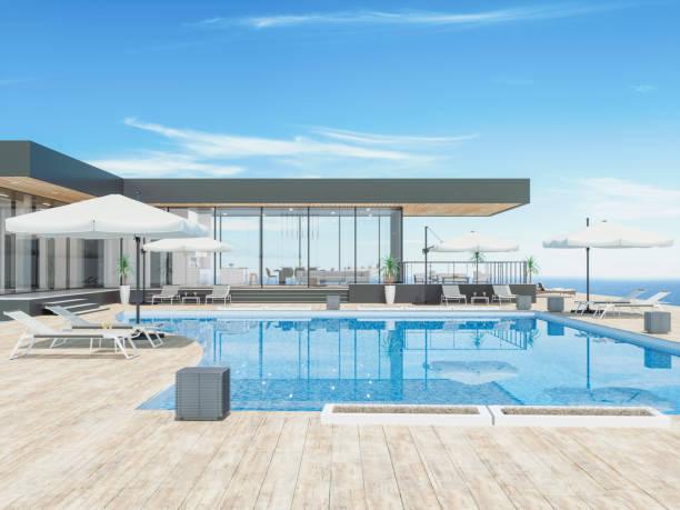 Modernes Haus mit Schwimmbad – Foto