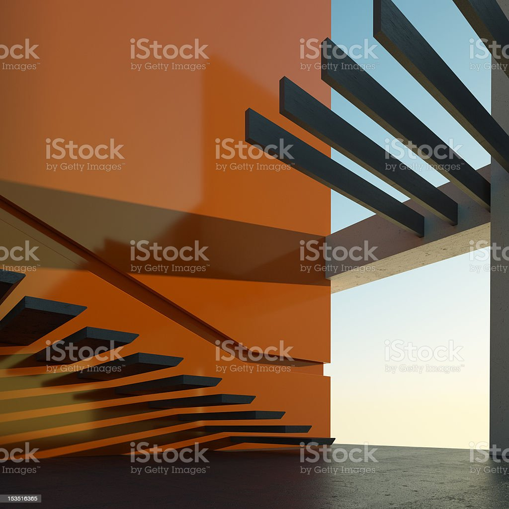 Modern house with swimming pool royalty-free stock photo