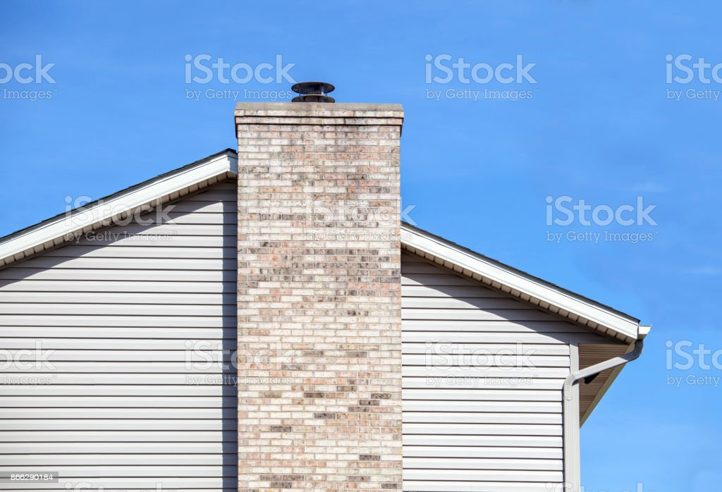 Modern House With Vinyl Siding And Chimney Stock Photo Download Image Now Istock