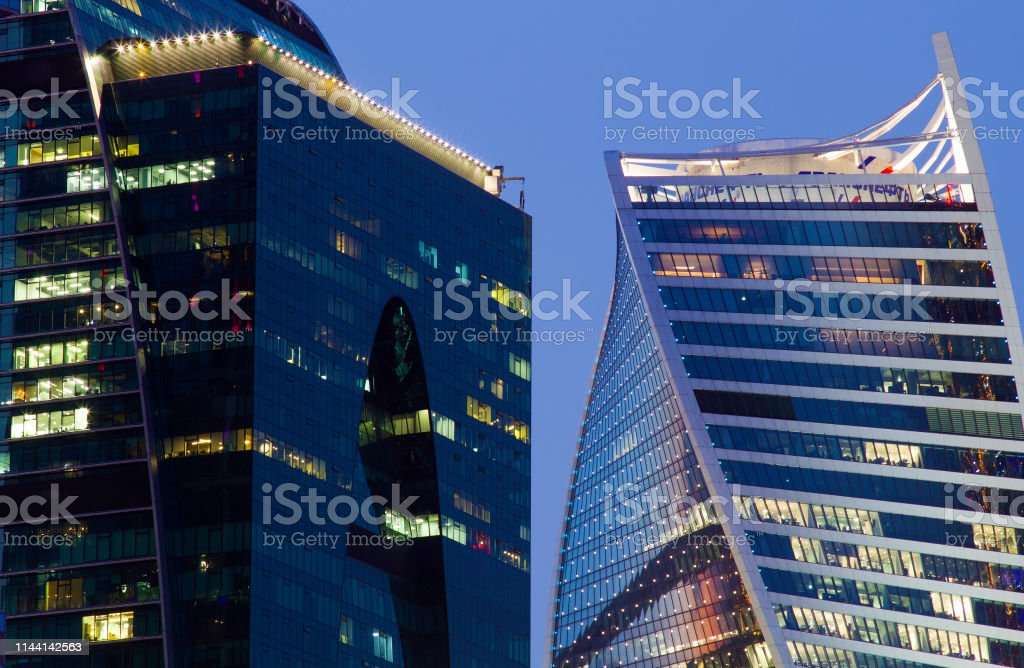 Modern houses in the center of Moscow royalty-free stock photo