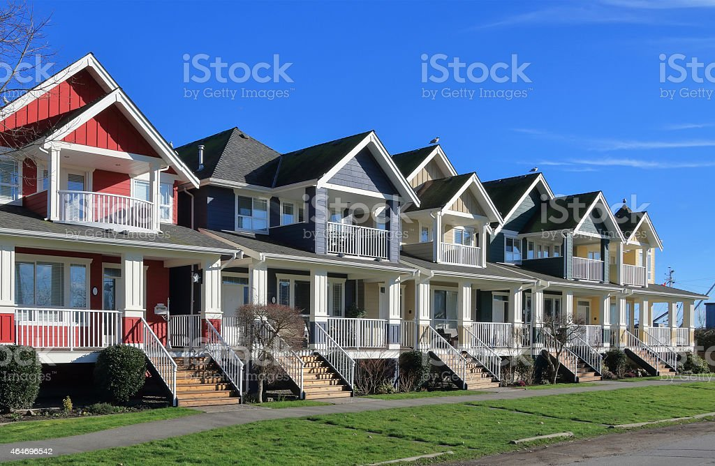 Moderne Häuser Lizenzfreies Stock Foto