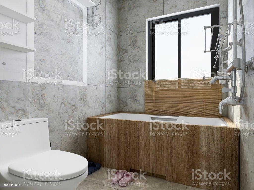 Moderne Wohnung Bad Wc Design Renderings Mit Badewanne ...