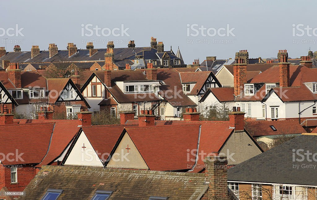 Modern housing estate royalty-free stock photo