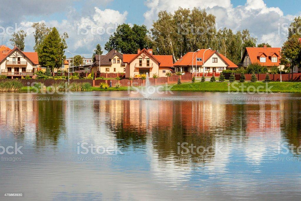 Modern housing estate - Poland stock photo