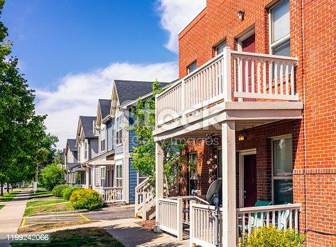 176823773 istock photo Modern housing in Denver, Colorado 1199242066