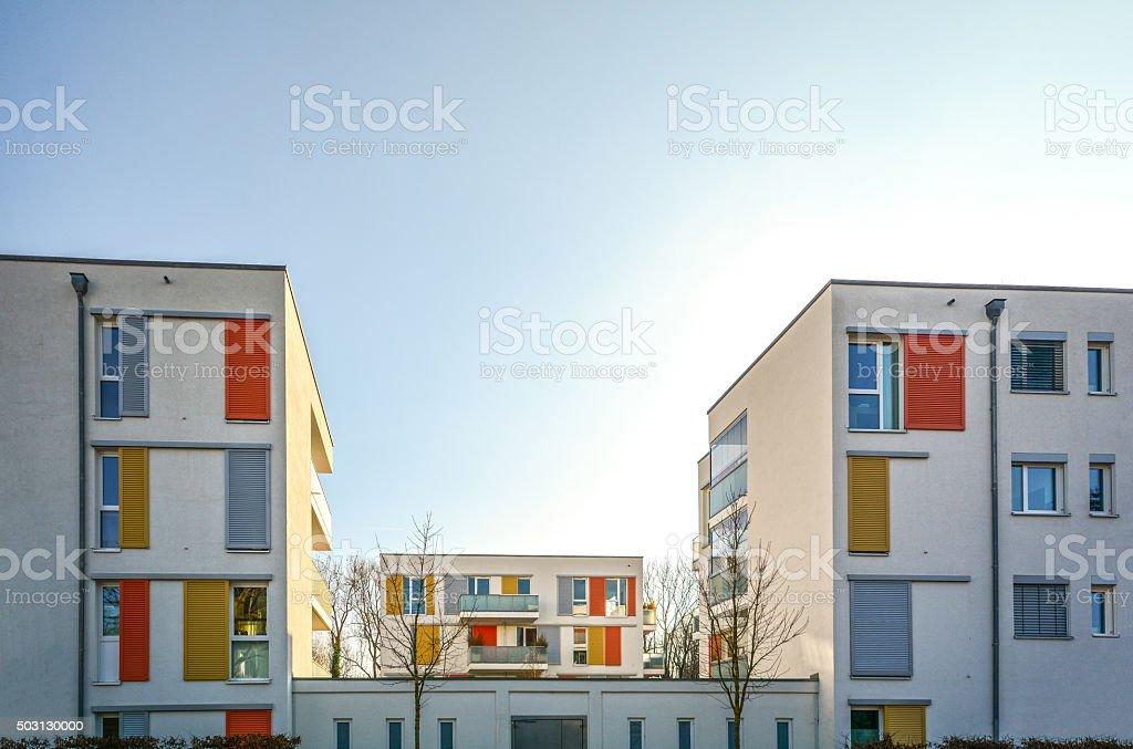 Hébergement moderne en ville, des immeubles résidentiels urbains - Photo