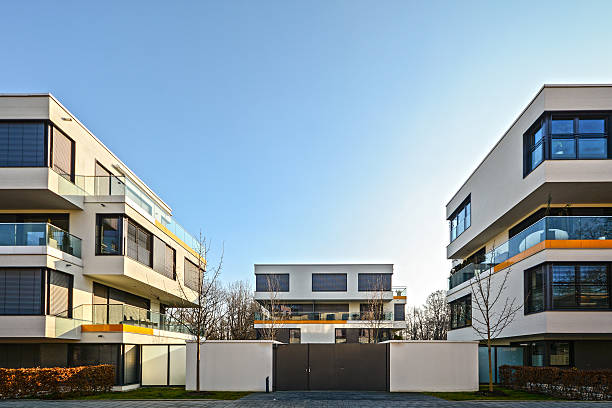 Modern housing in the city - urban residential buildings Modern housing in the city - urban residential buildings gated community stock pictures, royalty-free photos & images