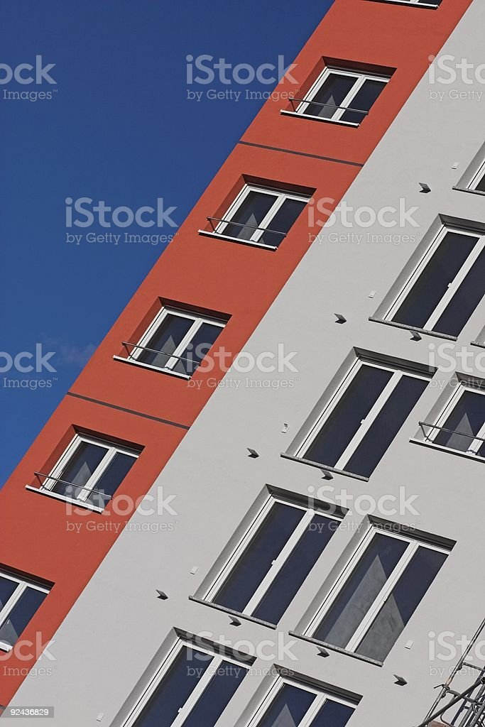 Modern housing royalty-free stock photo
