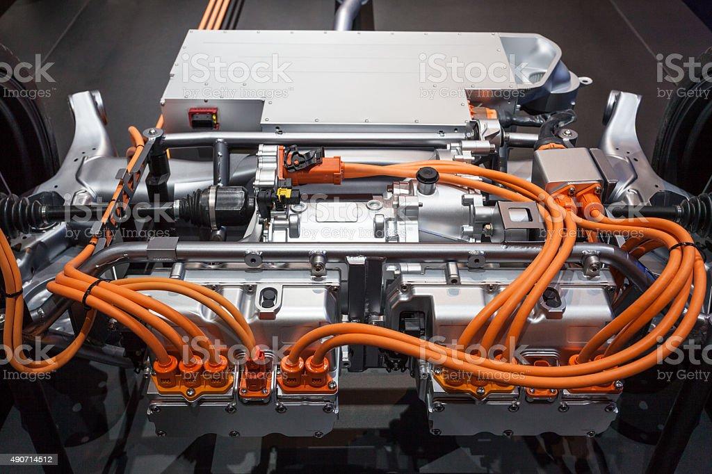 Modern hybrid transmission stock photo