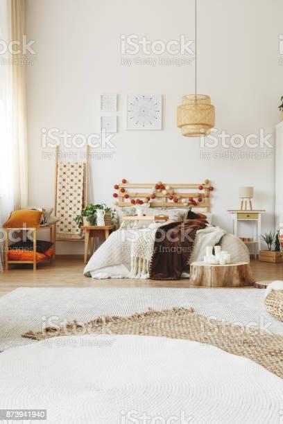 Moderne Hygge Stil Schlafzimmer Stockfoto Und Mehr Bilder Von Accessoires Istock