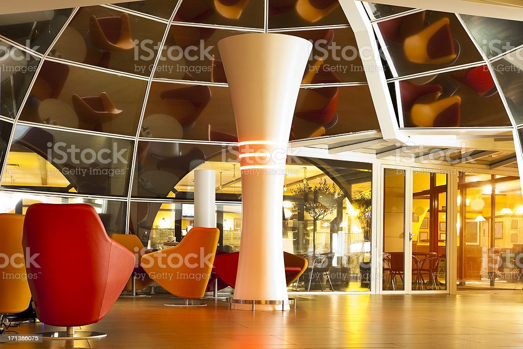 Modern Interieur Wit : Modern illuminated glass interior wit chairs stock photo more