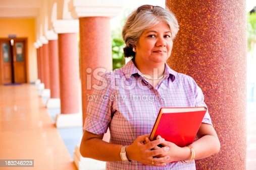 istock Modern Indian Confident Attractive Mid Aged Business Woman Lecturer Professor 183246223