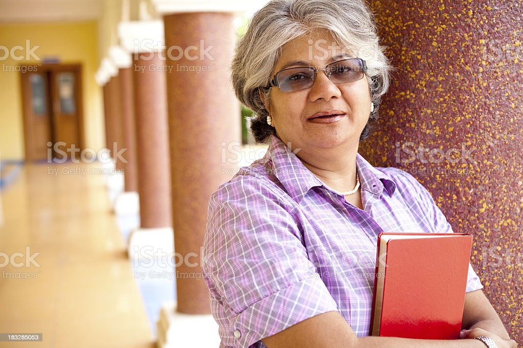Modern Indian Confident Attractive Mid Aged Business Woman Lecturer Professor royalty-free stock photo