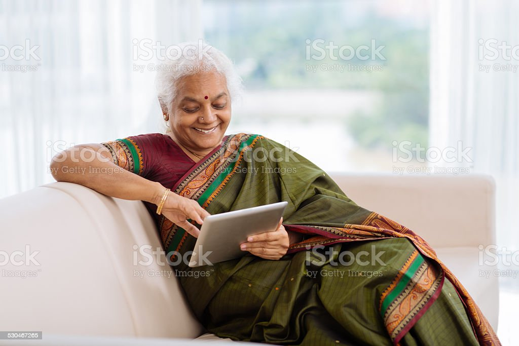 Modern Indian woman stock photo