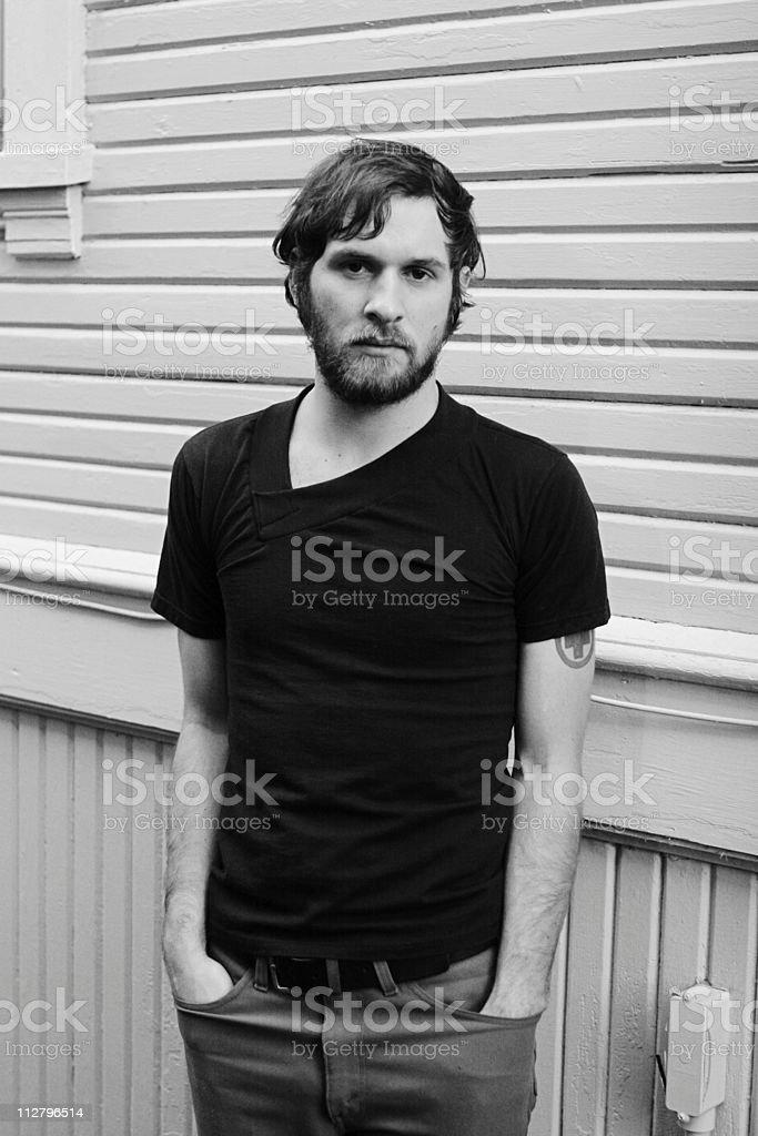 Hipster Homme Barbu Indie Moderne En Noir Et Blanc Photos Et Plus