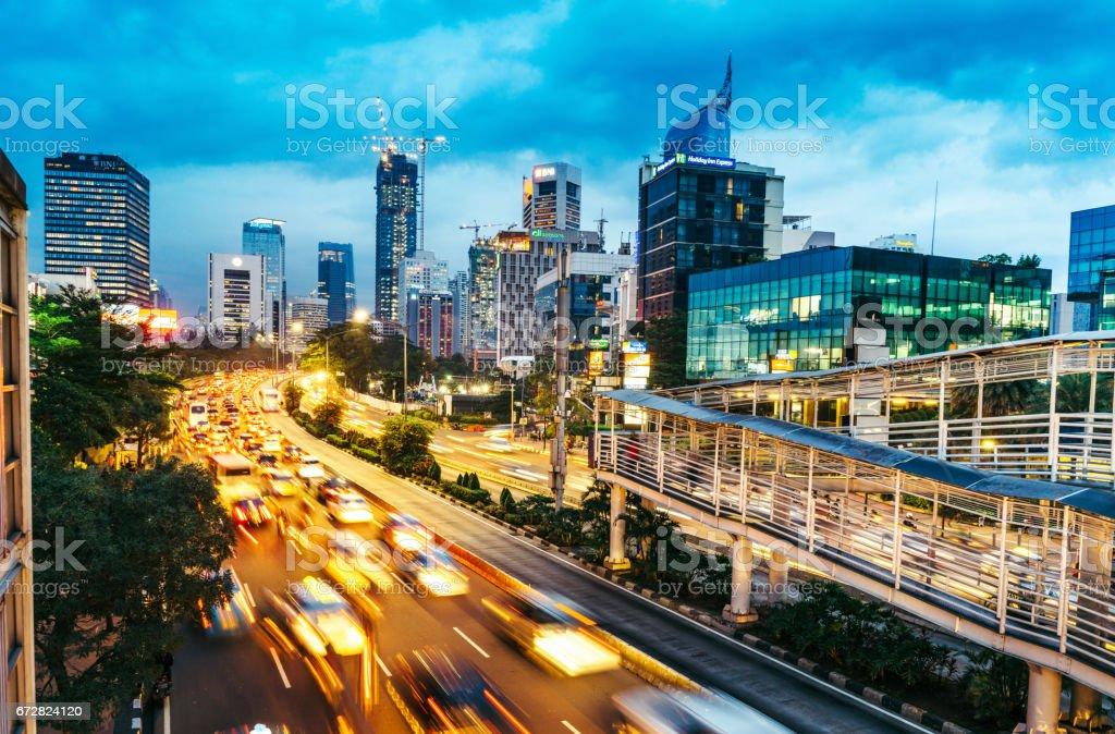 modern indonesia capital city Jakarta stock photo