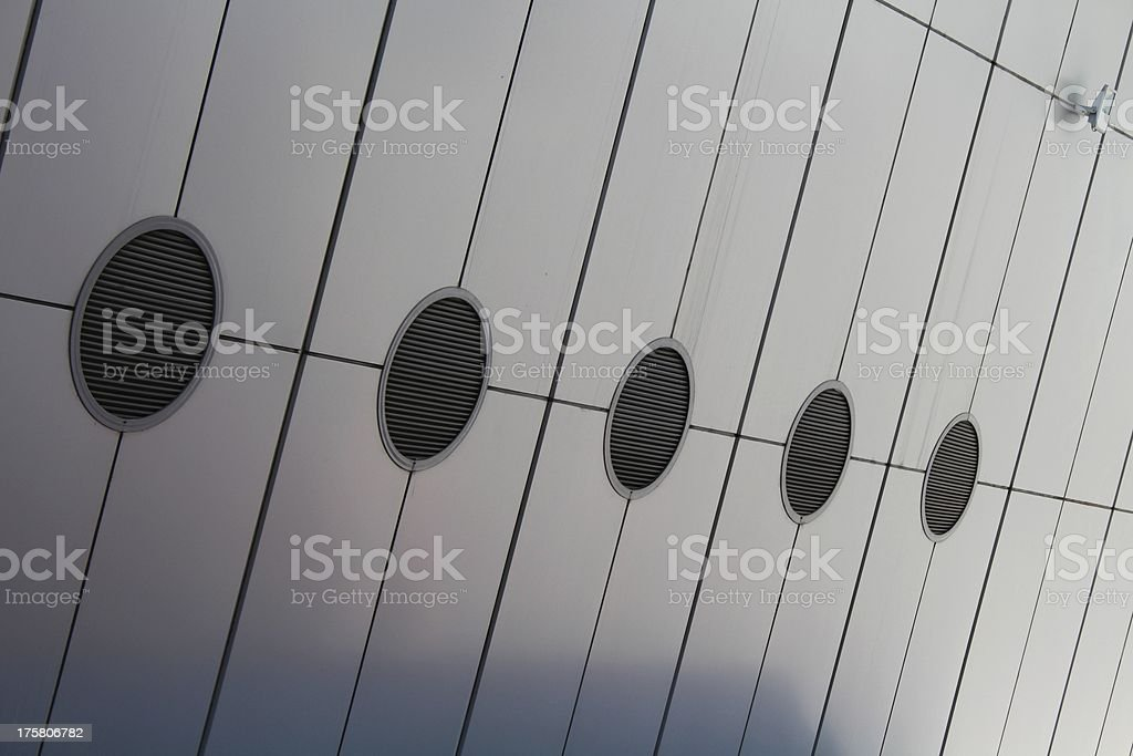Modern industrial air ducts royalty-free stock photo