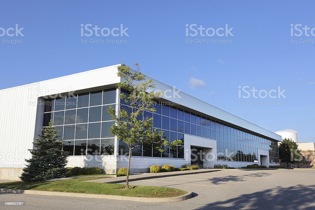 Modern Industrial Building Exterior stock photo
