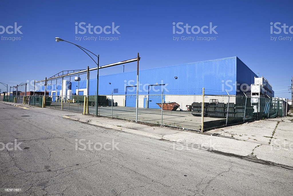 Modern Industrial Building in Clearing, Chicago royalty-free stock photo