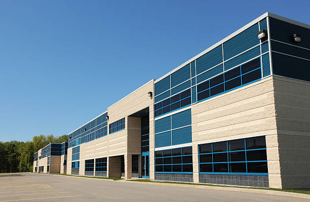 Modern Industrial Building  buzbuzzer stock pictures, royalty-free photos & images