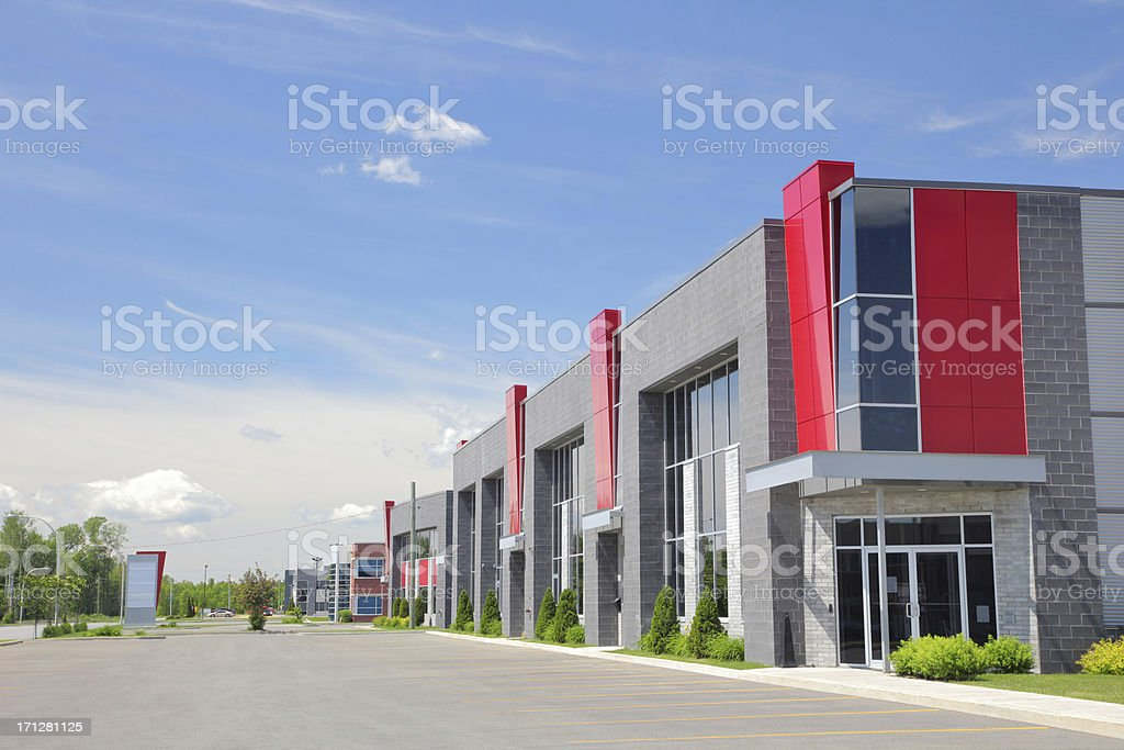 Modern Industrial Condos stock photo