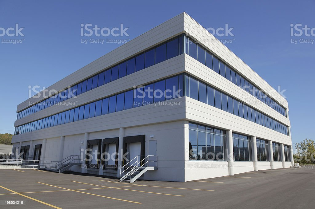 Modern Industrial Infrastructure Building stock photo