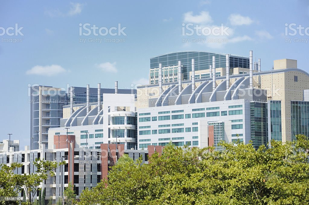 Modern industrial or chemical building royalty-free stock photo