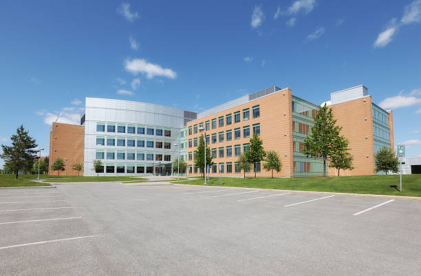 Modern Institute Building Exterior stock photo