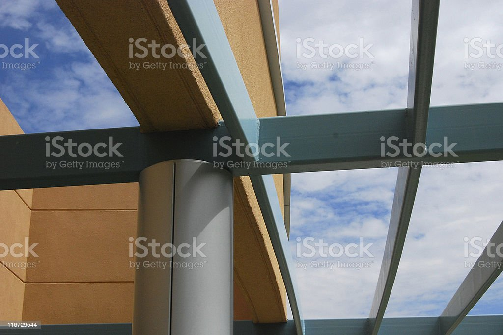 Modern Institutional Architecture - Steel Trellis Detail royalty-free stock photo