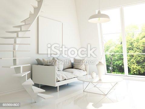 654050754istockphoto Modern interior 3d render 655664802