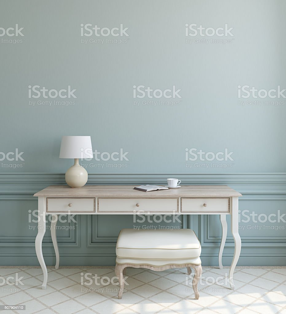 Modern interior. 3d rendering. stock photo