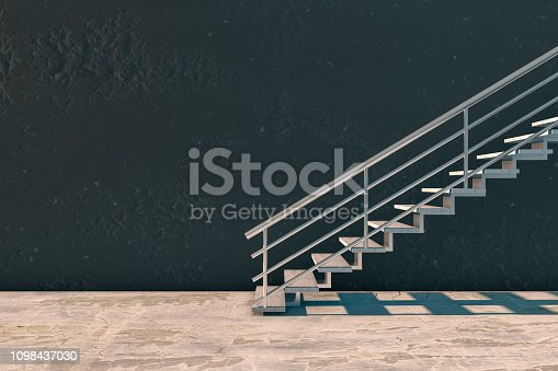 istock Modern interior and stairs with copyspace 1098437030