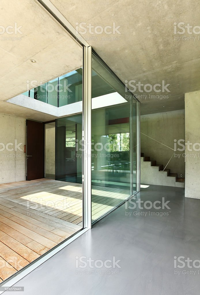 Modern interior architecture of a house royalty-free stock photo