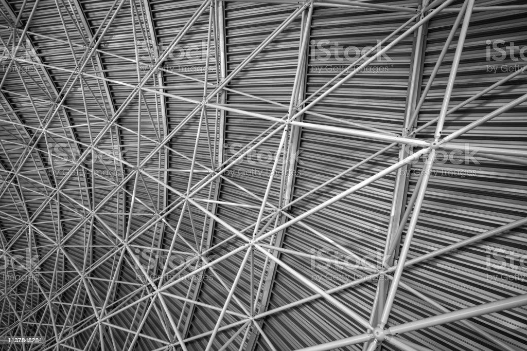 Arquitectura Interior Moderna De Estructura Metálica De