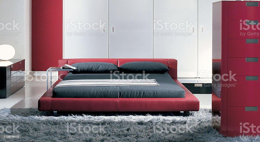 Modern interior   Bedroom royalty-free stock photo