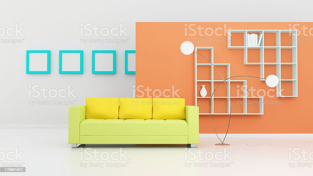 Modern interior composition. royalty-free stock photo