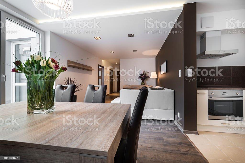 Moderne Innenarchitektur Wohnzimmer Lizenzfreies Stock Foto