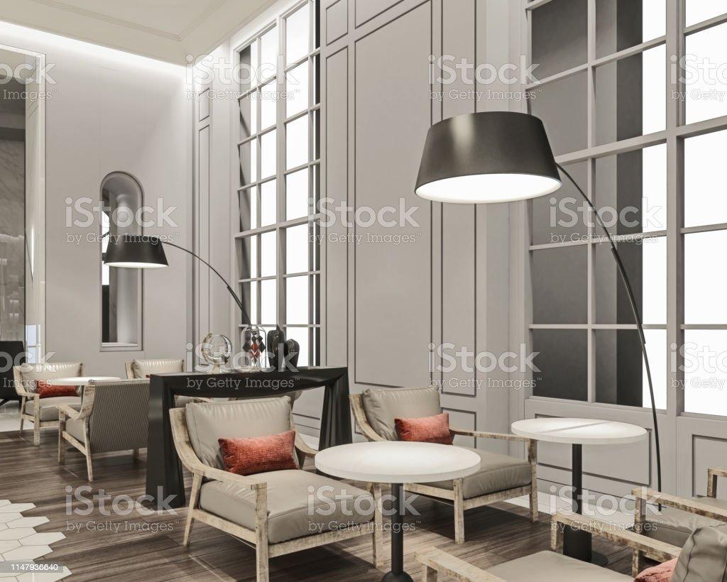 Sillones Grandes Modernos.Moderno Diseno Interior Del Lobby Lounge Del Hotel Comodos